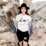 Woman in Joshua Tree shirt