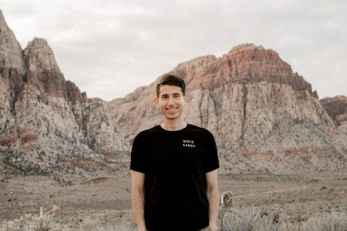Man in mountains White Sands Tee